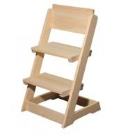 Dětská židle, celodřevěná polohovací - B163