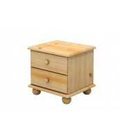 Noční stolek2 zásuvky, masiv borovice - B202