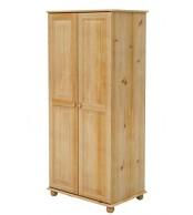 Šatní skříň dvoudveřová, masiv borovice - B224
