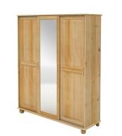 Skříň s posuvnými dveřmi, třídveřová se zrcadlem - B241