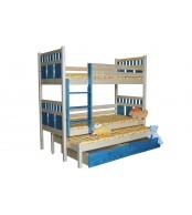 Patrová postel, trojpostel VAŠÍK (základní provedení) - B408-80x180