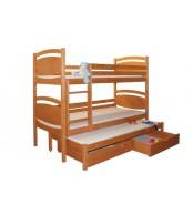 Patrová postel, trojpostel DAVÍDEK (základní provedení) - B409-80x180