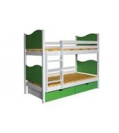 Patrová postel NICOLAS (základní provedení) - B412-80x180