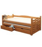 Dětská postel IVANKA, dvoulůžko (postel s přistýlkou) - B431-80x180