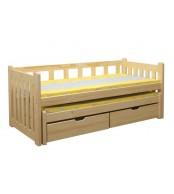 Dětská postel LUCINKA, dvoulůžko (postel s přistýlkou) - B432-80x180