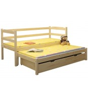 Dětská postel MARUŠKA, dvoulůžko (postel s přistýlkou) - B434-80x180