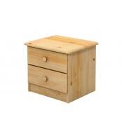 Noční stolek 2 zásuvky, masiv smrk - B701