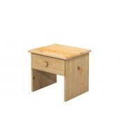 Noční stolek 1 zásuvka, masiv smrk - B712