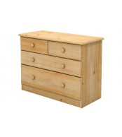 Komoda 2+2 zásuvky, masiv smrk (volba barvy dřeva) - B734