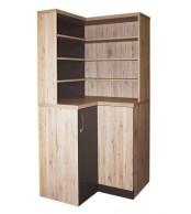 Rohová knihovna CASPER s úchytkou - C147