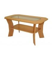 Konferenční stolek FILIP, se sklem - K10
