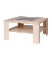 Konferenční stolek TOBIAS, čtvercový, sklo černé - K105