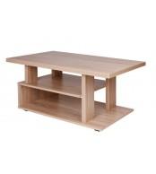 Konferenční stolek ARTUR, obdélník, police a podstavec - K120