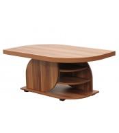 Konferenční stolek DAN, obdélník, police a kolečka - K125