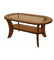 Konferenční stolek IGNÁC, oválný, MDF+sklo - K51