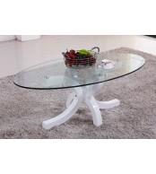 Konferenční stolek designový, MDF lesk a sklo - K94 NOVINKA