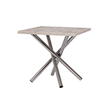 Jídelní stůl POLO 80x80, nohy chrom - S147
