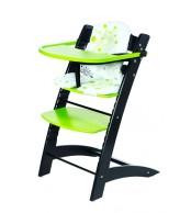Židle dětská rostoucí černo/zelená - Z522
