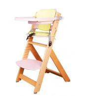Židle dětská rostoucí přírodní/růžová - Z523
