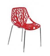 Židle BOHUMILA, chrom - plast - Z604