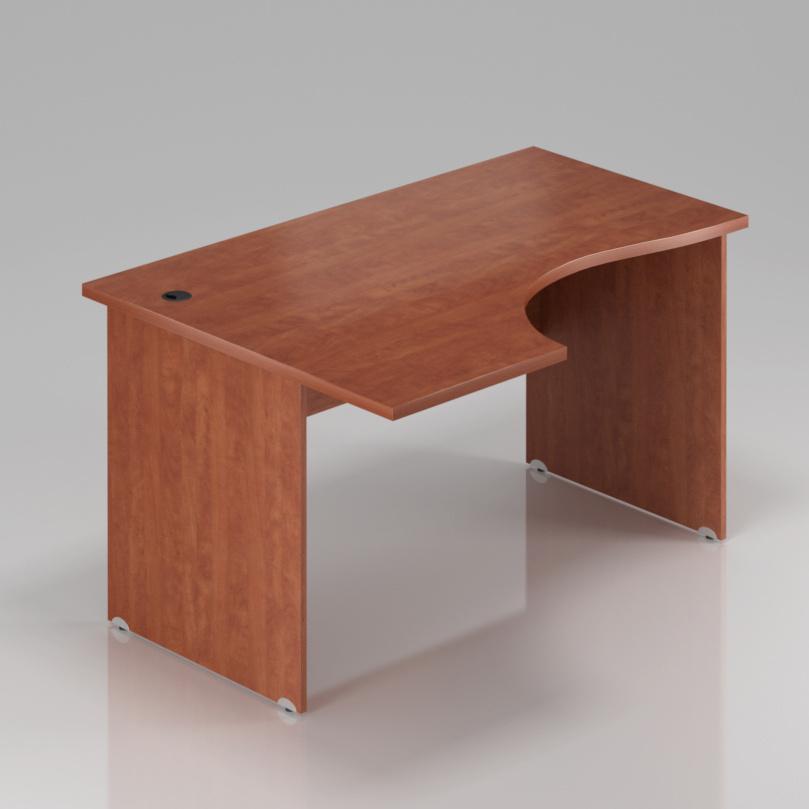 Kancelářský rohový stůl levý Komfort, dřevěná podnož, 160x70/100x76 cm - BKA21 03