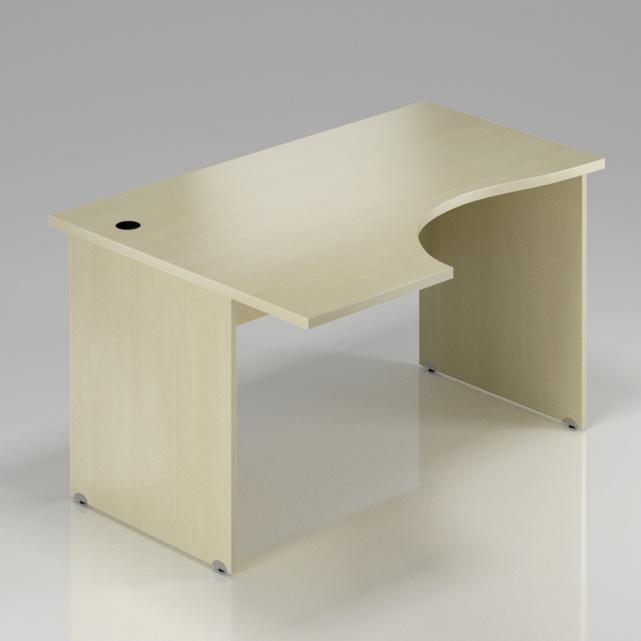 Kancelářský rohový stůl levý Komfort, dřevěná podnož, 160x70/100x76 cm - BKA21 12