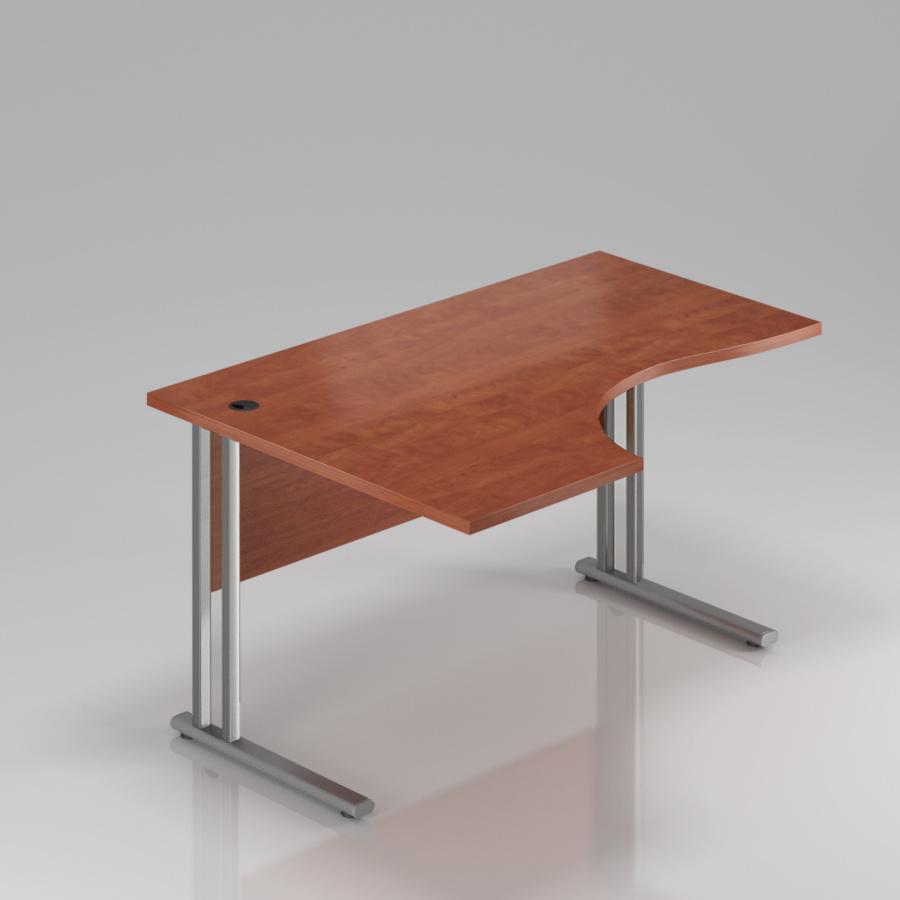 Kancelářský stůl rohový levý Komfort, kovová podnož, 160x70/100x76 cm - BPR21 03