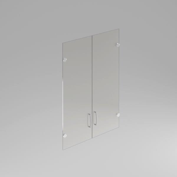 Skleněné dveře Komfort, hliníkový rám, 105,2x79 cm - FS 3-OH