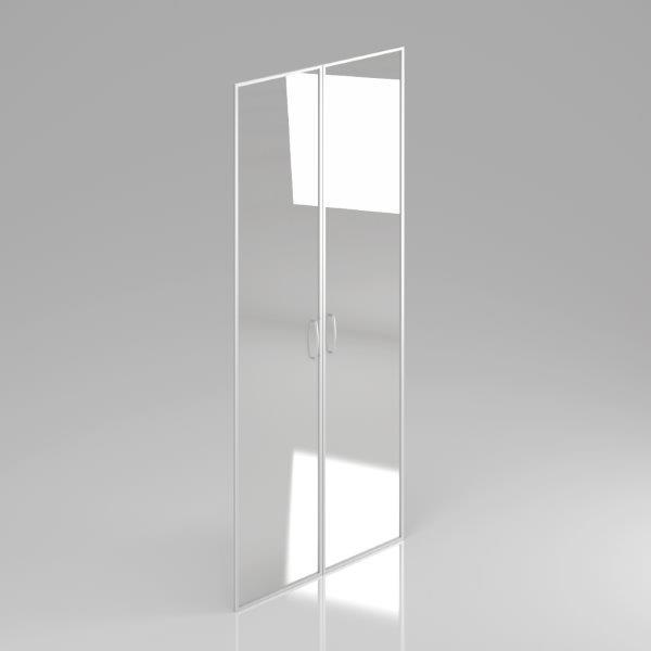 Skleněné dveře Komfort, hliníkový rám, 175,4x79cm - FS 5-OH AL