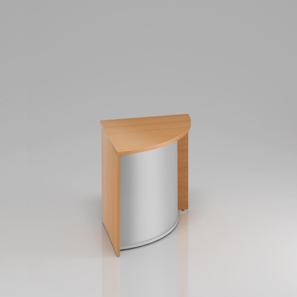 Recepční rohový pult Komfort, 70x70x76 cm - LKA90 11