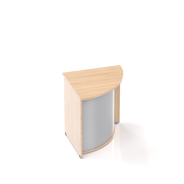 Recepční rohový pult Komfort, 70x70x76 cm - LKA90 05