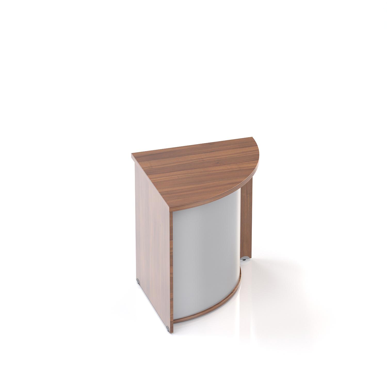 Recepční rohový pult Komfort, 70x70x76 cm - LKA90 19