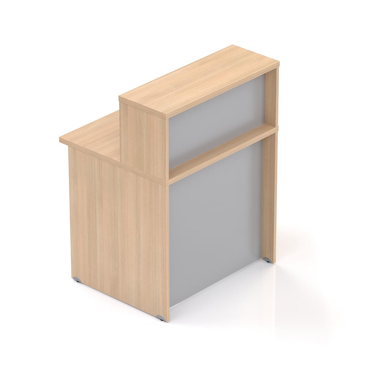 Recepční pult s nástavbou Komfort, 80x70x111 cm - NLKA08 05