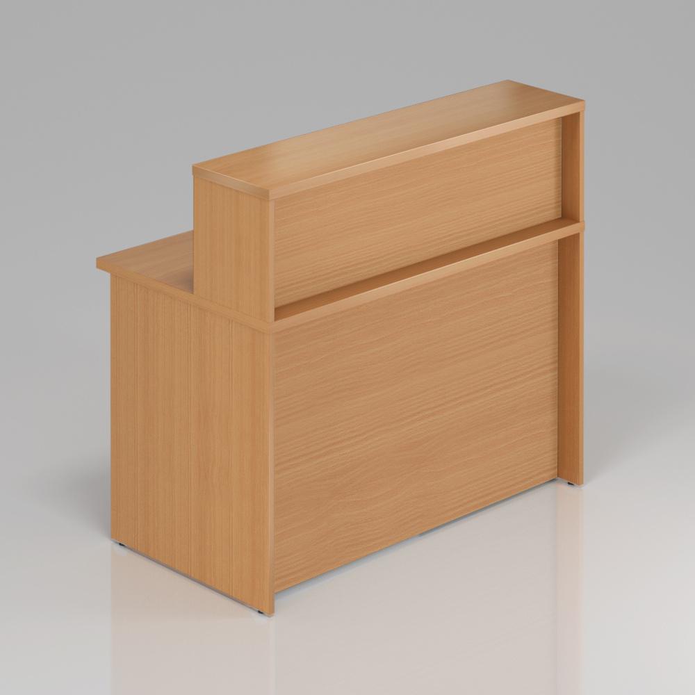 Recepční pult s nástavbou Komfort, 120x70x111 cm - NLKA12 11