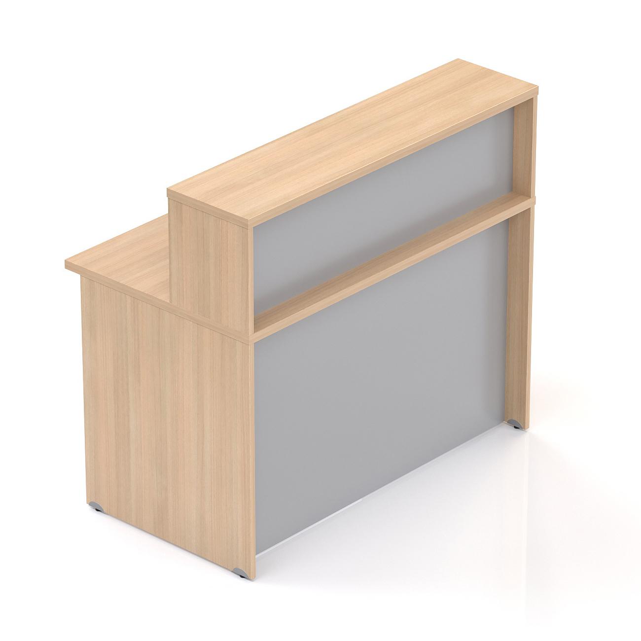 Recepční pult s nástavbou Komfort, 136x70x111 cm - NLKA13 05