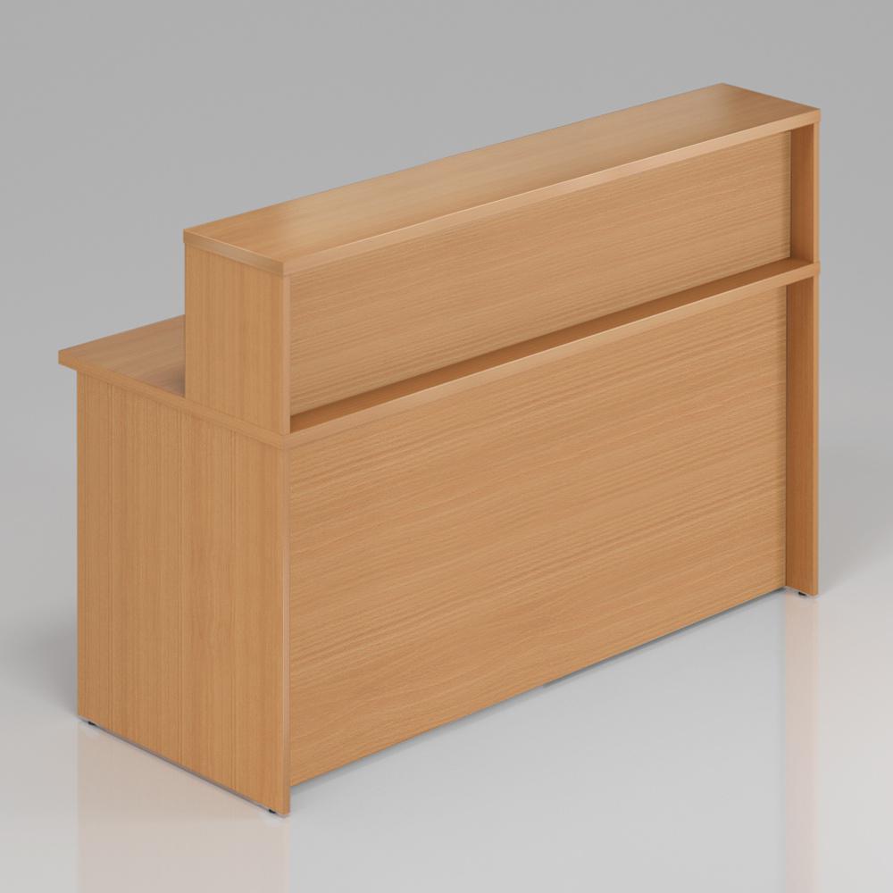 Recepční pult s nástavbou Komfort, 160x70x111 cm - NLKA16 11