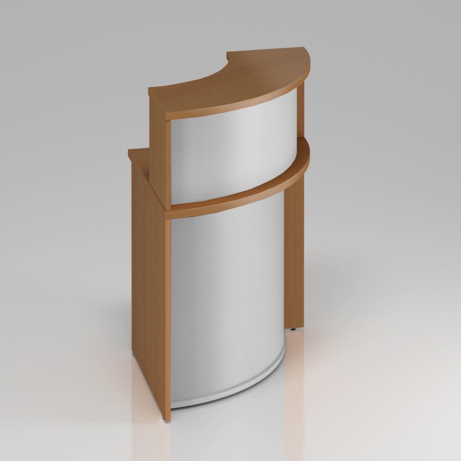 Recepční rohový pult s nástavbou Komfort, 70x70x111 cm - NLKA90 11