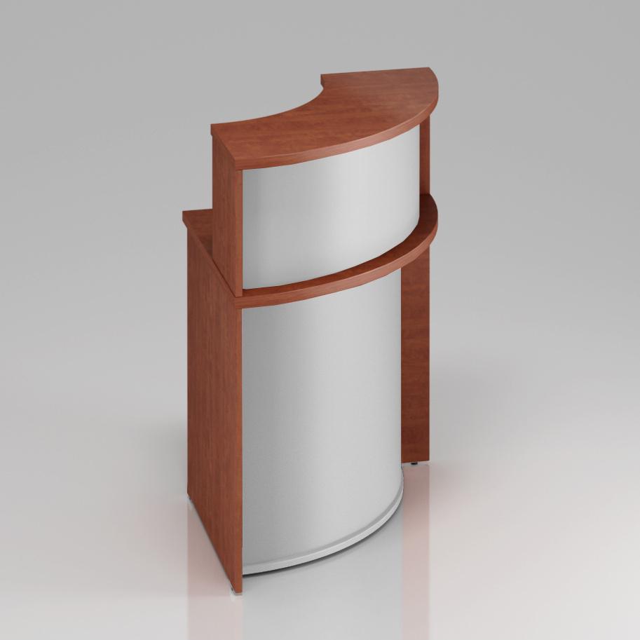 Recepční rohový pult s nástavbou Komfort, 70x70x111 cm - NLKA90 03
