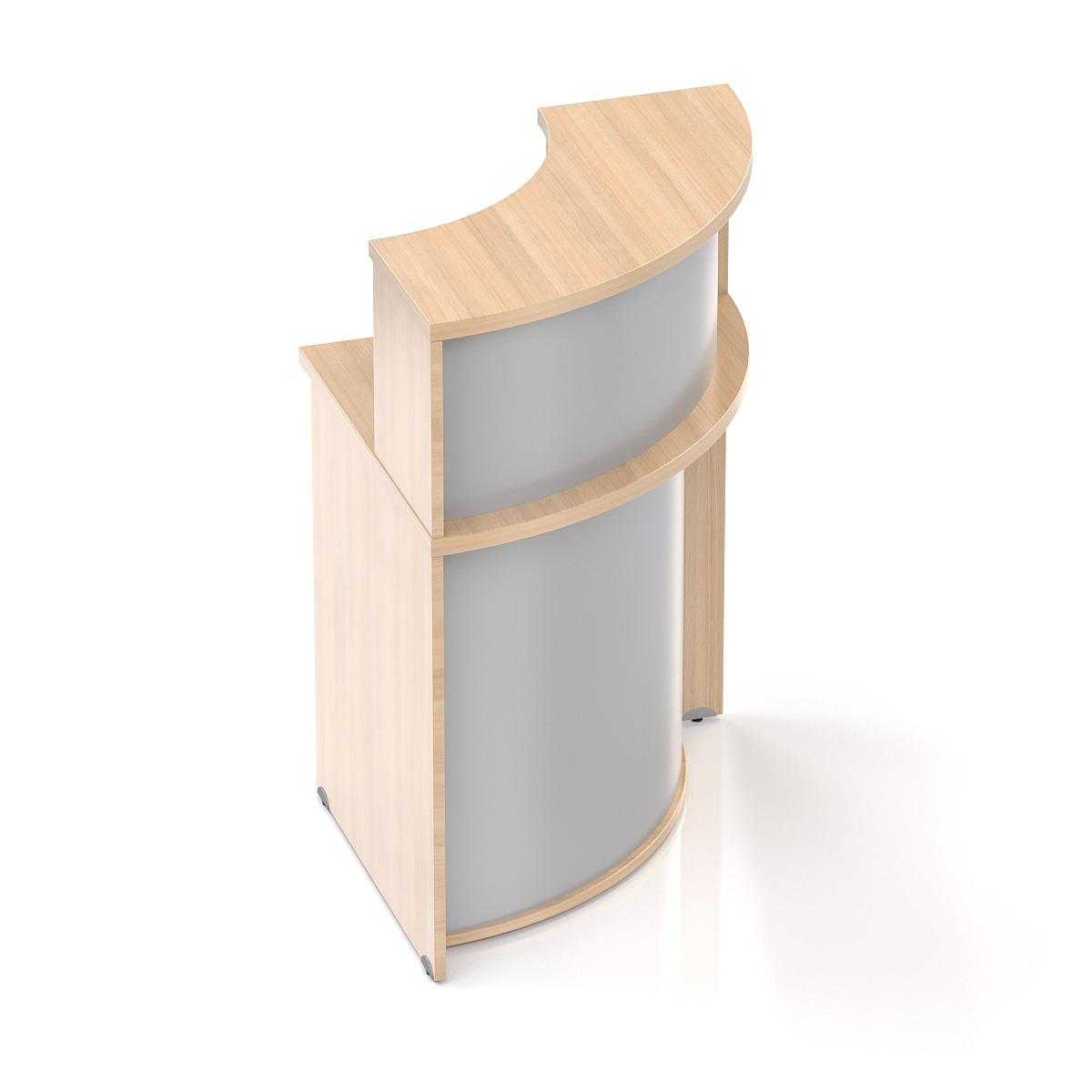 Recepční rohový pult s nástavbou Komfort, 70x70x111 cm - NLKA90 05