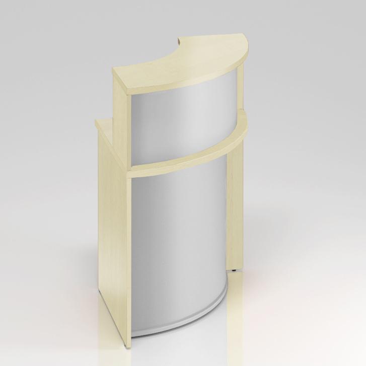 Recepční rohový pult s nástavbou Komfort, 70x70x111 cm - NLKA90 12