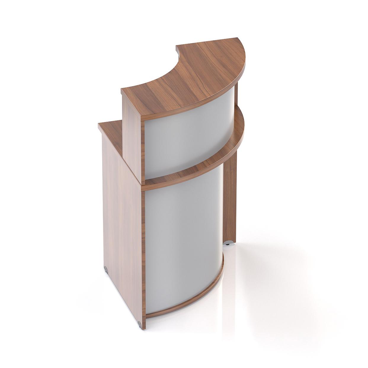 Recepční rohový pult s nástavbou Komfort, 70x70x111 cm - NLKA90 19