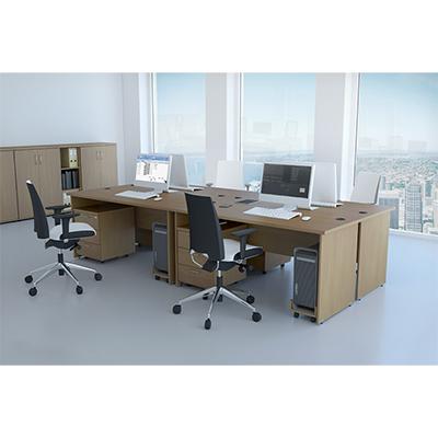 Sestava kancelářského nábytku Komfort 1 buk - R111001 11