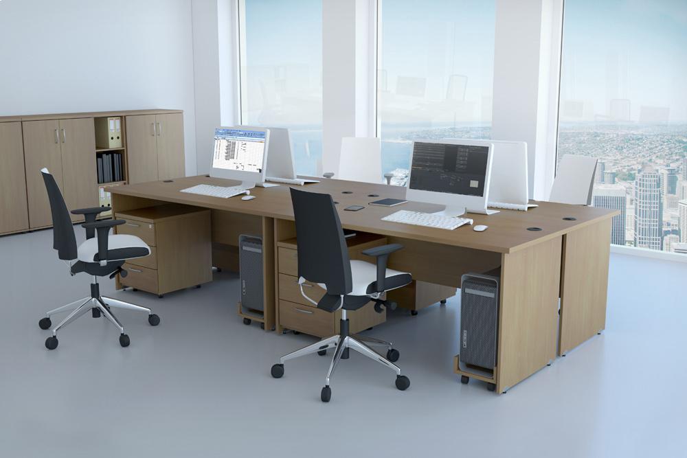 DN Sestava kancelářského nábytku Komfort 1 buk R111001 11