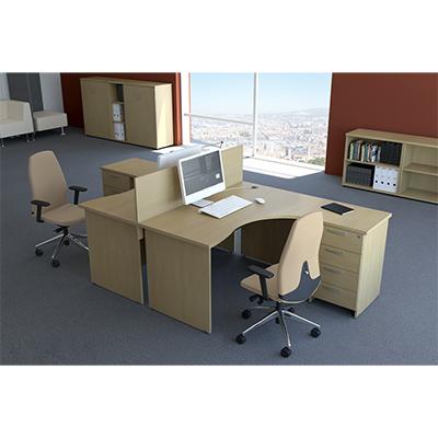 Sestava kancelářského nábytku Komfort 2 javor - R111002 12