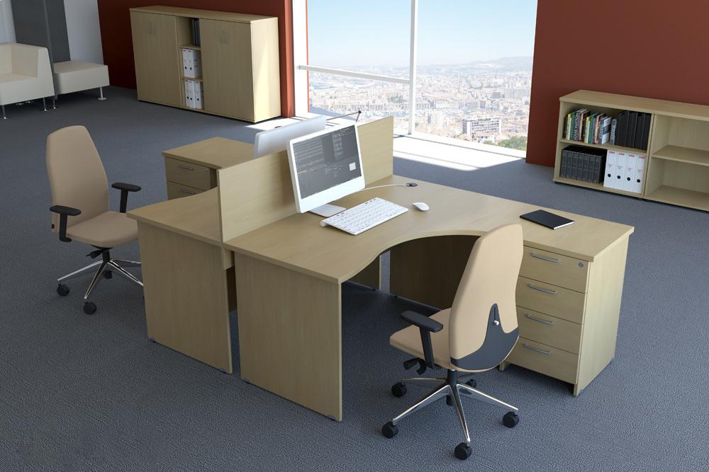 Sestava kancelářského nábytku Komfort 2 buk - R111002 11