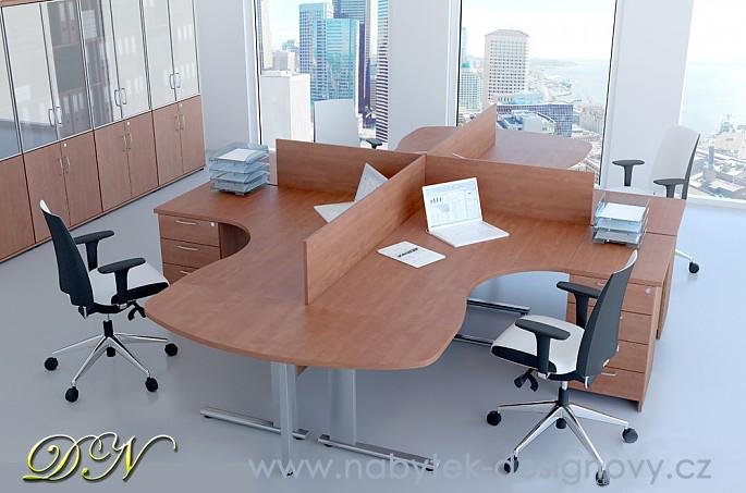 DN Sestava kancelářského nábytku Expres 3 buk R111003 11