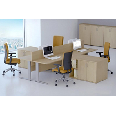 Sestava kancelářského nábytku Komfort 4 buk - R111004 11