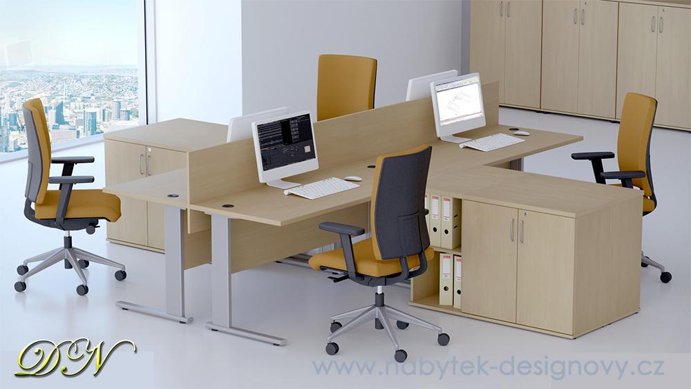 DN Sestava kancelářského nábytku Expres 4 calvados R111004 03
