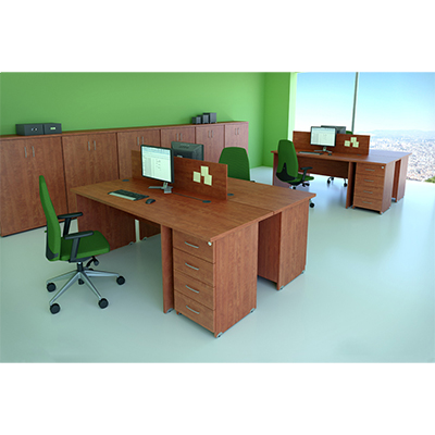Sestava kancelářského nábytku Komfort 5 buk - R111005 11