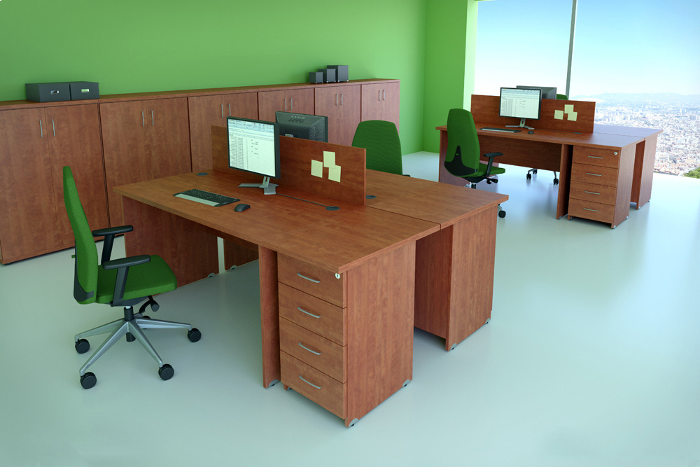 DN Sestava kancelářského nábytku Expres 5 calvados R111005 03